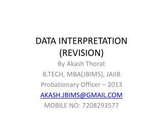 DATA  INTERPRETATION (REVISION)