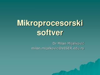 Mikroprocesorski softver