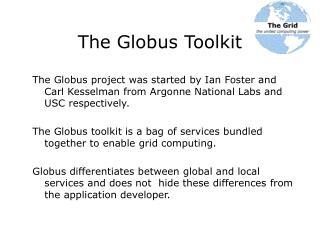 The Globus Toolkit