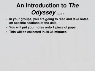 An Introduction to  The Odyssey  page(640)