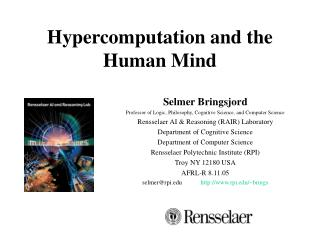 Hypercomputation and the Human Mind