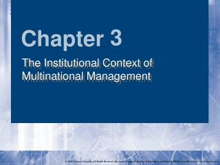 The Institutional Context of Multinational Management