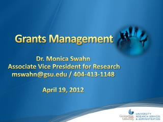 Grants Management