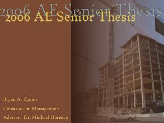 2006 AE Senior Thesis