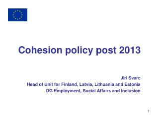 Cohesion policy post 2013