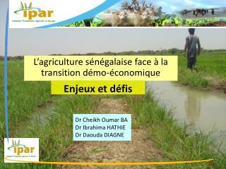 Dr Cheikh Oumar BA Dr Ibrahima HATHIE Dr Daouda DIAGNE