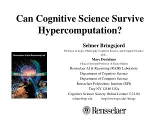 Can Cognitive Science Survive Hypercomputation?