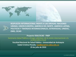 Proyecto  OEA/CICAD - FNSP