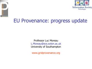 EU Provenance: progress update