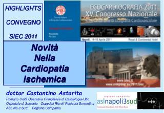 dottor Costantino Astarita Primario Unità Operativa Complessa di Cardiologia-Utic