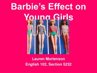 Barbie's Effect on Young Girls
