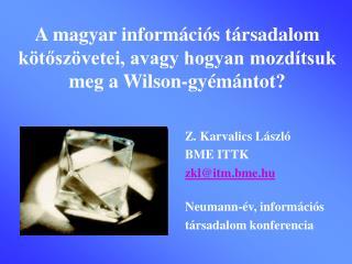 A magyar információs társadalom kötőszövetei, avagy hogyan mozdítsuk meg a Wilson-gyémántot?