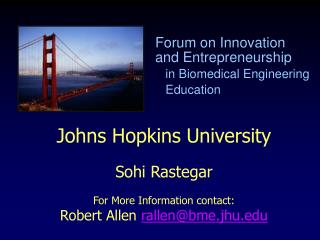 Forum on Innovation    and Entrepreneurship    in Biomedical Engineering    Education