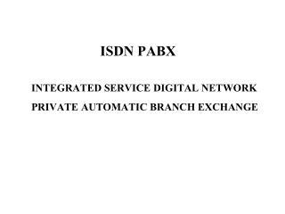 ISDN PABX