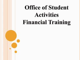Office of Student Activities Financial Training