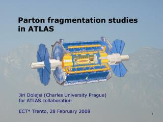 Parton fragmentation studies in ATLAS