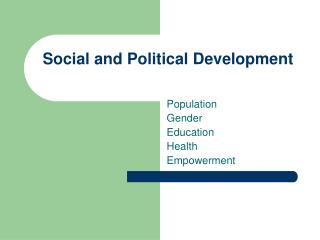Social and Political Development