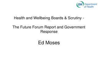 Health and Wellbeing Board Changes