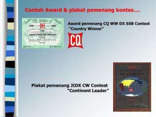 Contoh Award & plakat pemenang kontes….