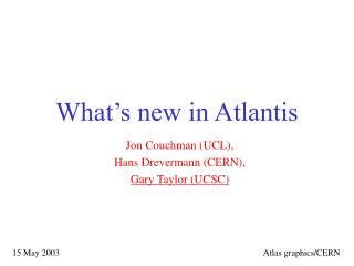 What's new in Atlantis