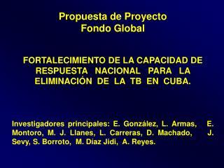 Propuesta de Proyecto  Fondo Global