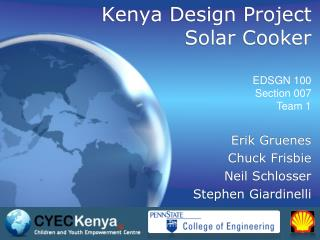 Kenya Design Project Solar Cooker