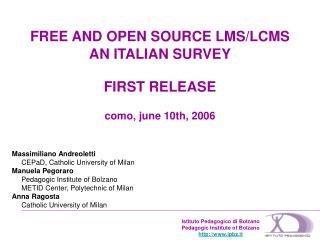 FREE AND OPEN SOURCE LMS/LCMS