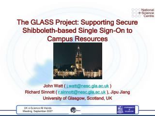 The GLASS Project: Supporting Secure Shibboleth-based Single Sign-On to Campus Resources