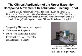 The  Clinical Application of the Upper Extremity Compound Movements Rehabilitation Training Robot