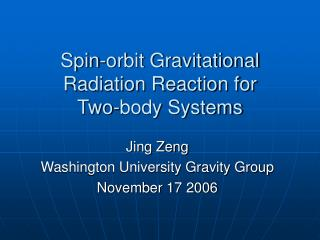 Spin-orbit Gravitational Radiation Reaction for  Two-body Systems