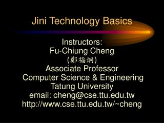 Jini Technology Basics