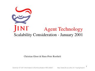 Agent Technology Scalability Consideration - January 2001