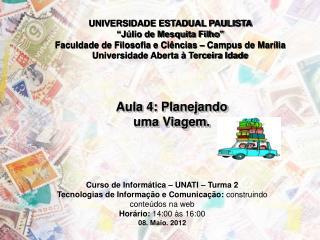 UNIVERSIDADE ESTADUAL PAULISTA �J�lio de Mesquita Filho�