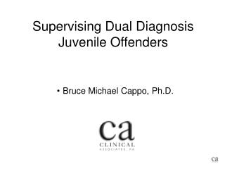 Supervising Dual Diagnosis Juvenile Offenders