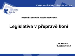 Legislativa v přepravě koní