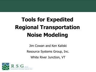 Tools for Expedited Regional Transportation Noise Modeling