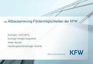 Altbausanierung-Fördermöglichkeiten der KFW