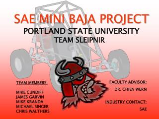 SAE MINI BAJA PROJECT PORTLAND STATE UNIVERSITY