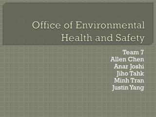 Office of Environmental Health and Safety