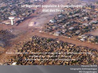 Le logement populaire à Ouagadougou : état des lieux