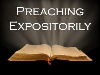 Preaching Expositorily