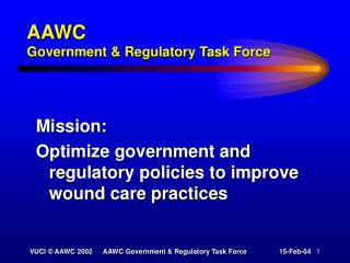 AAWC Government & Regulatory Task Force
