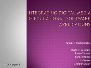Integrating Digital Media   Educational Software Applications