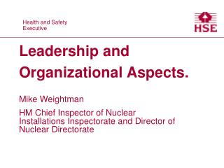 Leadership and Organizational Aspects.