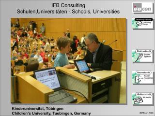 Kinderuniversität, Tübingen Children's University, Tuebingen, Germany