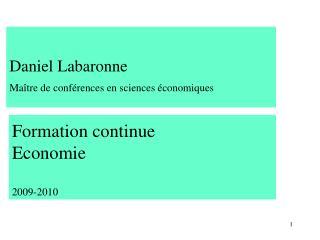 Formation continue  Economie  2009-2010
