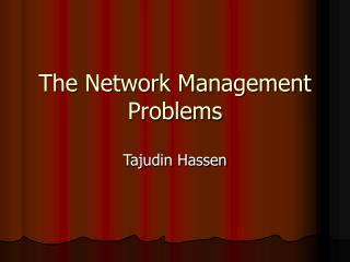 The Network Management Problems