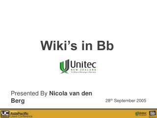 Wiki s in Bb
