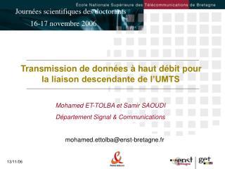 Transmission de donn es   haut d bit pour           la liaison descendante de l UMTS