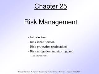 Chapter 25 Risk Management